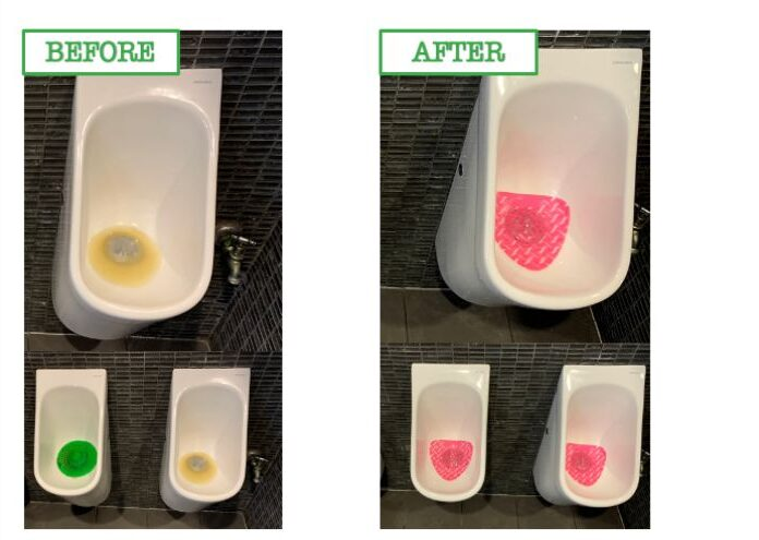 Urinal Before and After